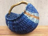 Basket 2015, 12x10x10, driftwood, cedar, reed, indigo